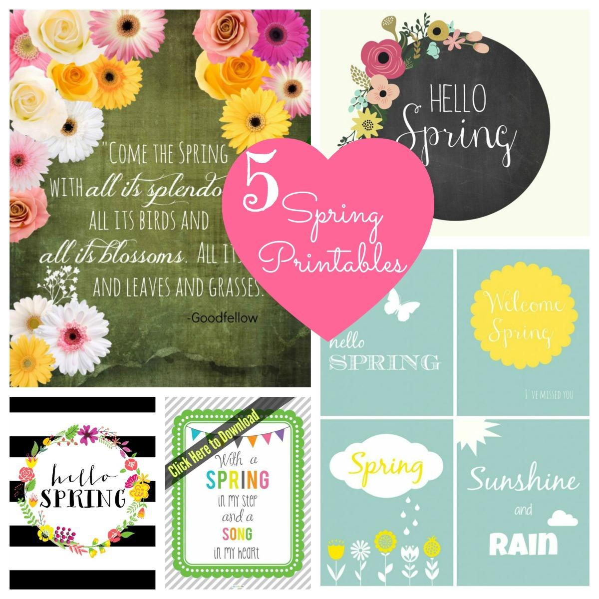 DIY - 5 Free Spring Printables
