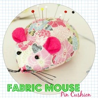 Fabric Mouse Pin Cushion - DIY