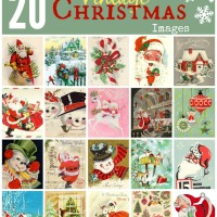DIY - 20 Vintage Christmas Images