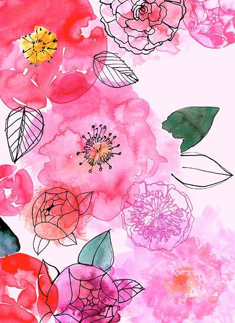 watercolor-floral-print