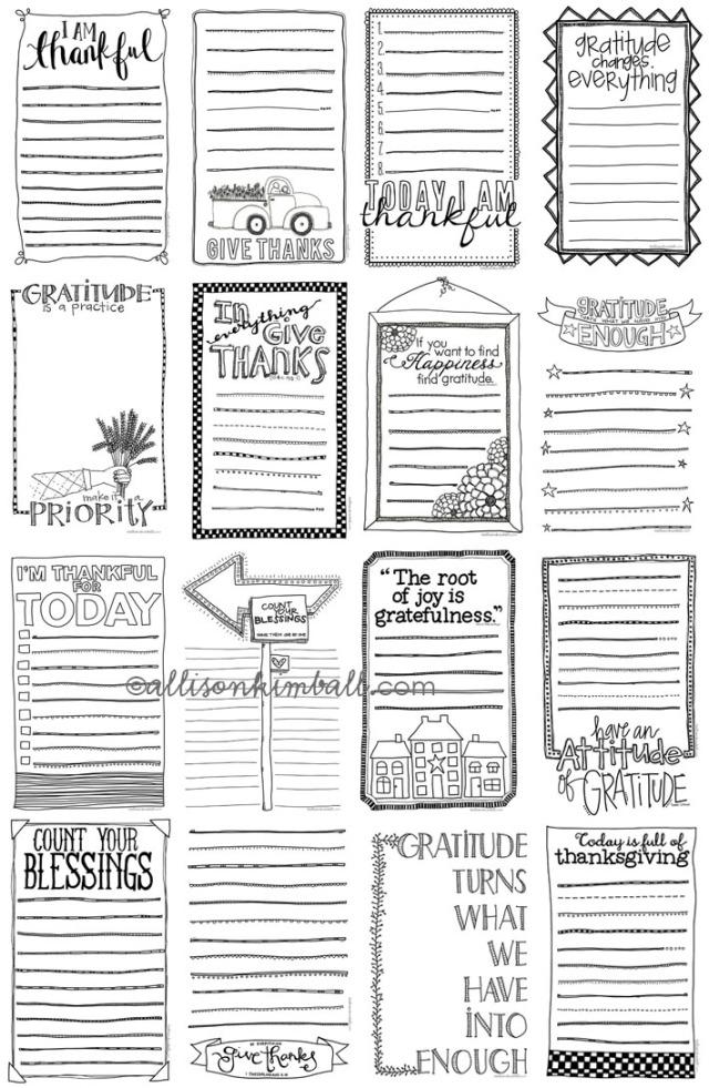 gratitude lists