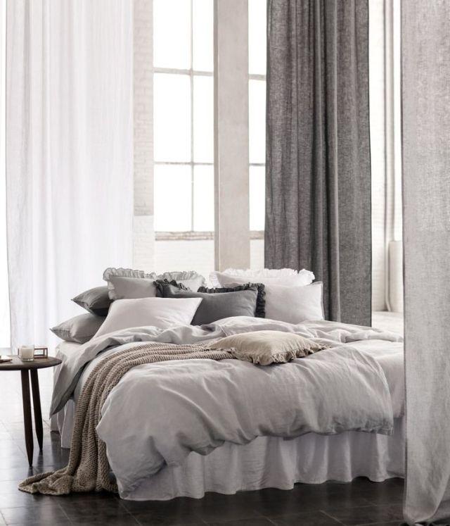 gray bedding bedroom