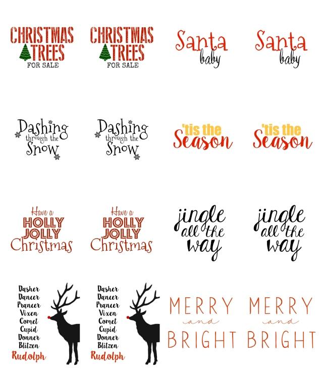 holiday tag collage by vintage scrap shop